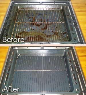 Before and After Cleaning oh the Grill