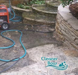 stone patio cleaning bow